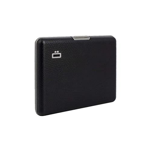 Silver Ogon Ribbed Clip On Credit Card Case