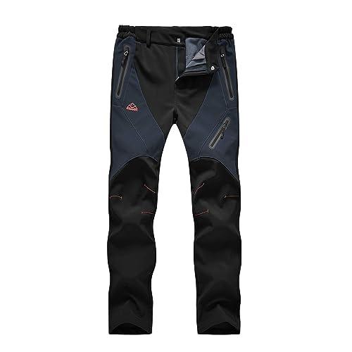 Rdruko Womens Waterproof Windproof Fleece Lined Warm Hiking Ski Snow Insulated Pants