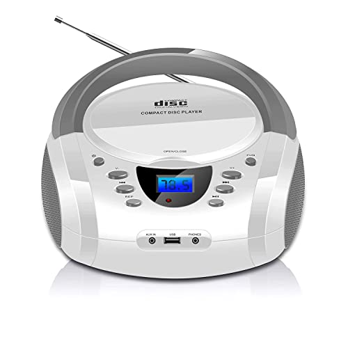 Aux-in/&USB Digital FM Stereo with Speakers Bluetooth CD Home Music System Remote Control Headphone Jack 2x15W LONPOO Compact CD Player Stereo Shelf System 30W