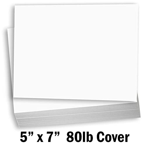 Hamilco White Cardstock Scrapbook Paper 12x12 Heavy Weight 80 lb Cover Card Stock 25 Pack
