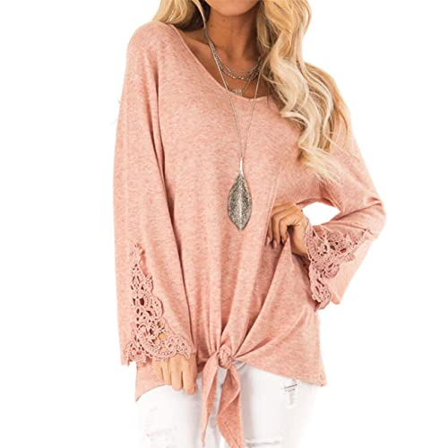 Women/'s Long Bell Sleeve Blouse Loose Trumpet T-Shirt Casual Solid Flare Tops