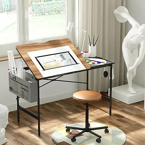 Artswish Drafting Table Art Desk, Art Desk With Storage