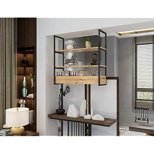 Buy Diyhd 3 Layer Ceiling Mount Black Flat Pipe Shelf Bracket Industrial Rustic Black Kitchen Shelf No Wooden Box Online In Guatemala B07txg62f3