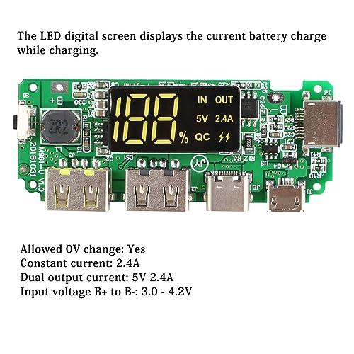 4pcs 186 50 Charging Board Dual USB 5V 2.4A Mobile Power Bank Module Lithium DIY