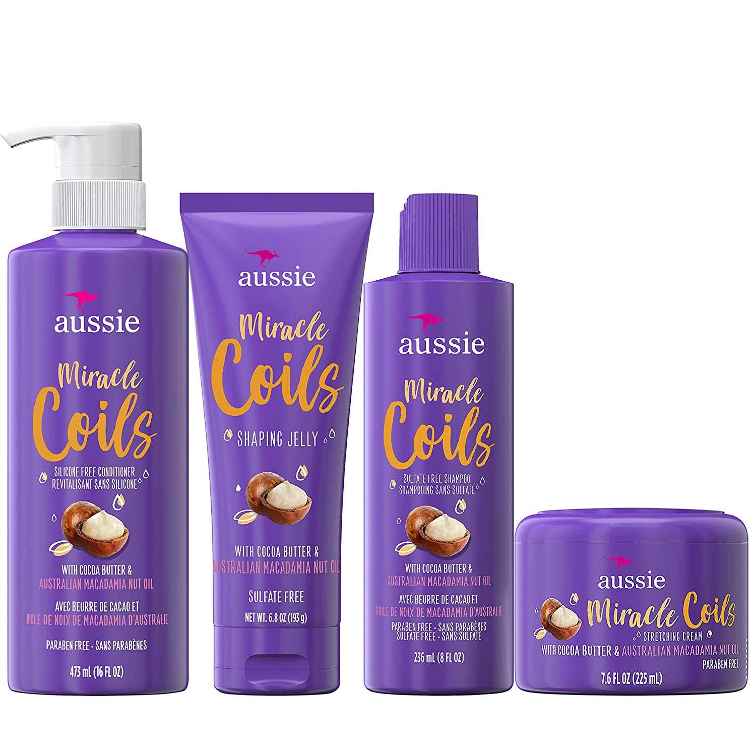 Buy Aussie Miracle Coils Collection, Shampoo, Conditioner, Shaping ...